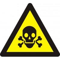"""Знак попереджувальний """"Обережно! Отруйна речовина"""" 130 мм."""
