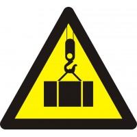 """Знак попереджувальний """"Обережно! Працює кран"""" 130 мм."""